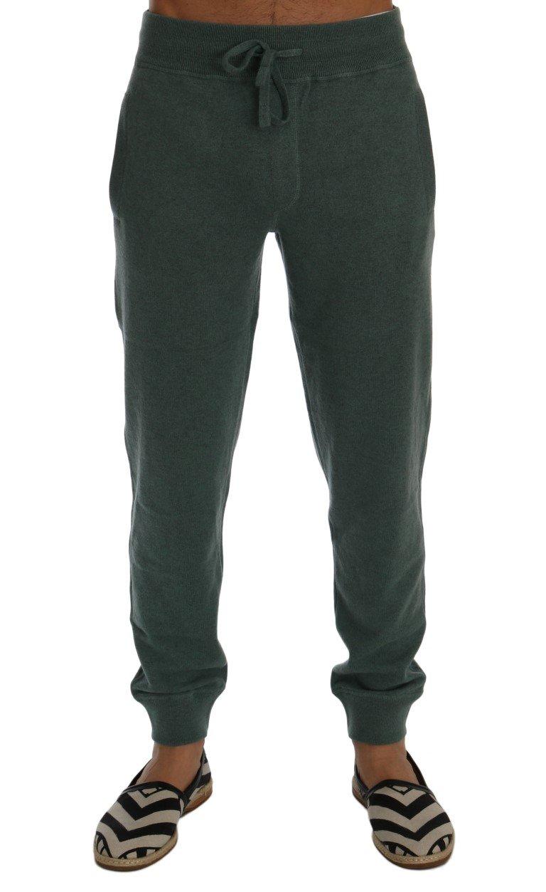 Dolce & Gabbana Men's Cashmere Training Trouser Green SIG60413 - S