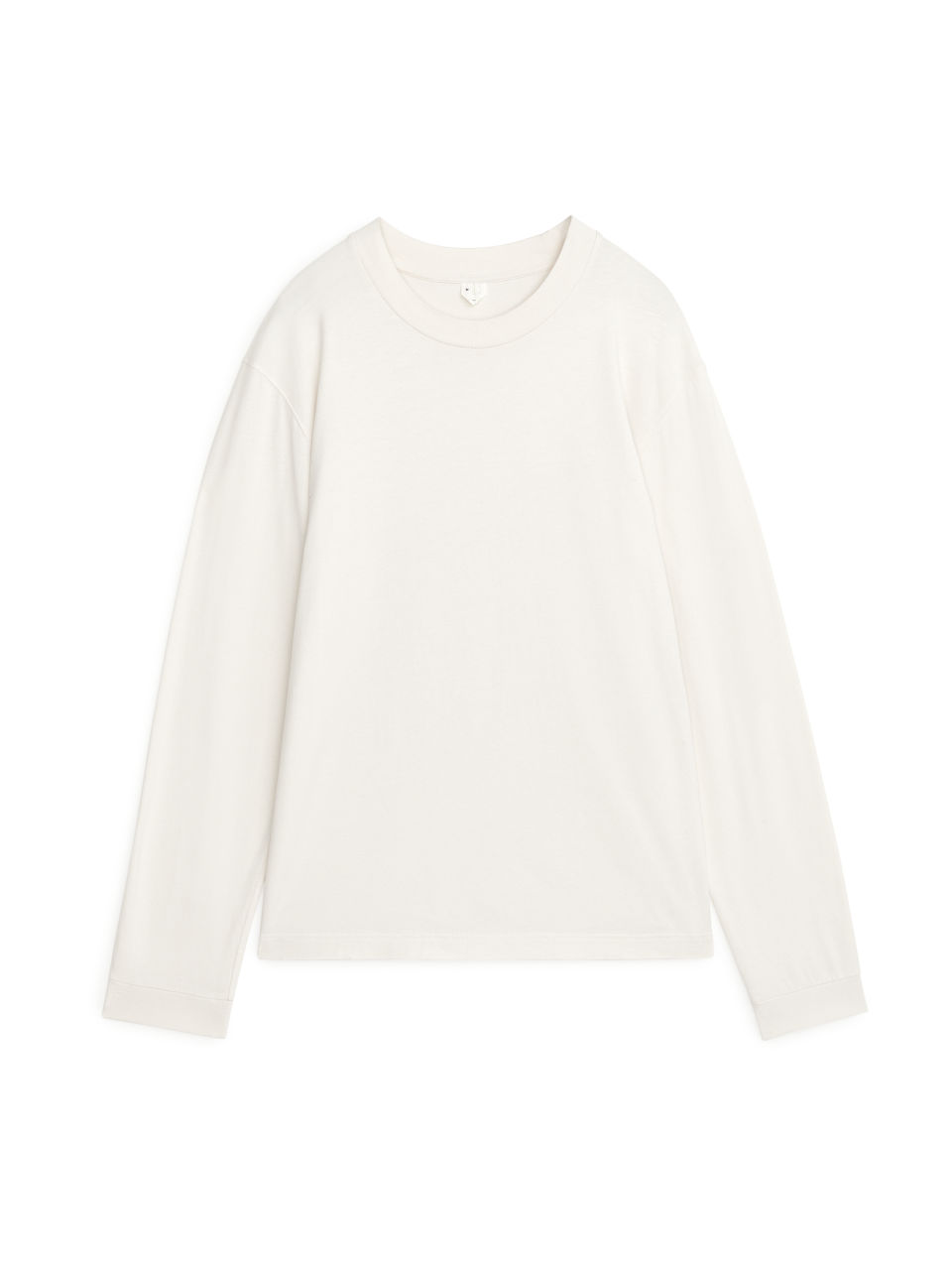 Long-Sleeved Organic Cotton T-Shirt - Beige