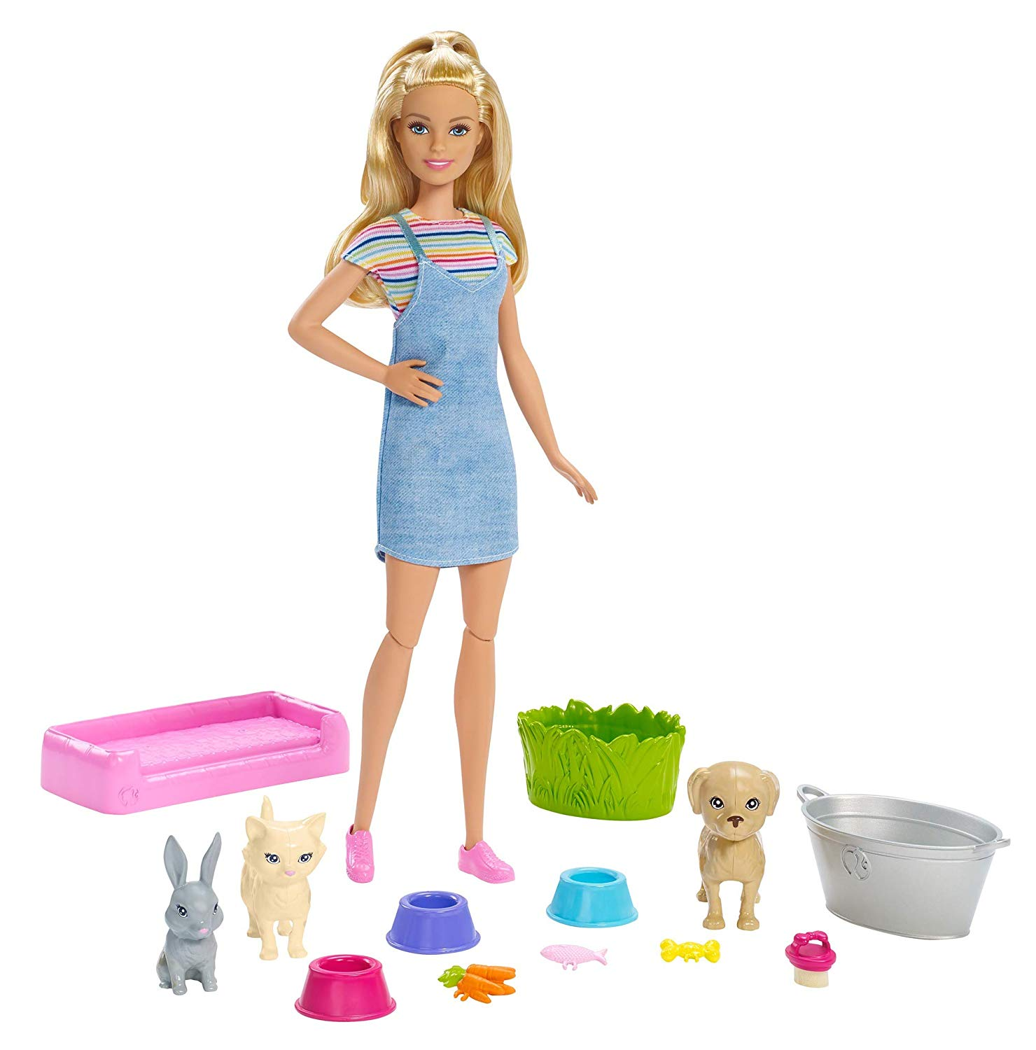 Barbie - Play 'n' Wash Pets Doll and Playset (FXH11)