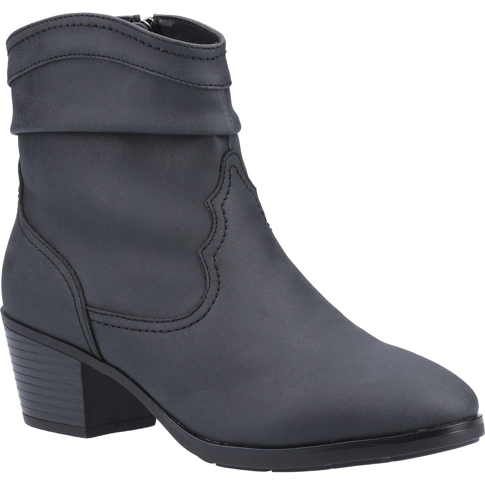 Divaz Women's Adele Ankle Boot Various Colours 33028 - Black 3
