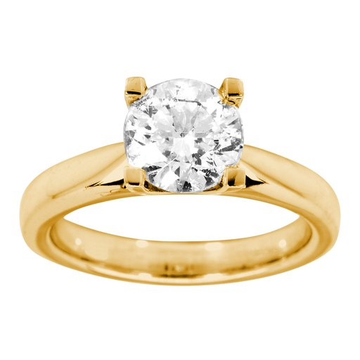 Diamantring i 18K guld, 16.5