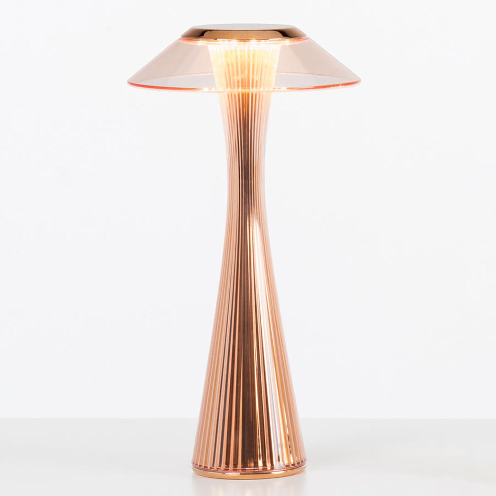 Kartell Space -design-LED-pöytälamppu, kupari