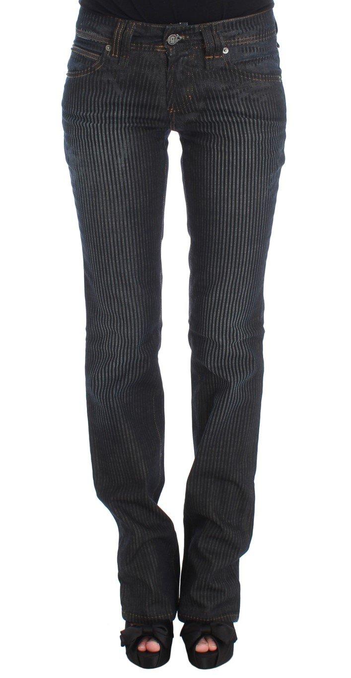 John Galliano Women's Cotton Blend Slim Fit Bootcut Jeans Blue SIG30194 - W24