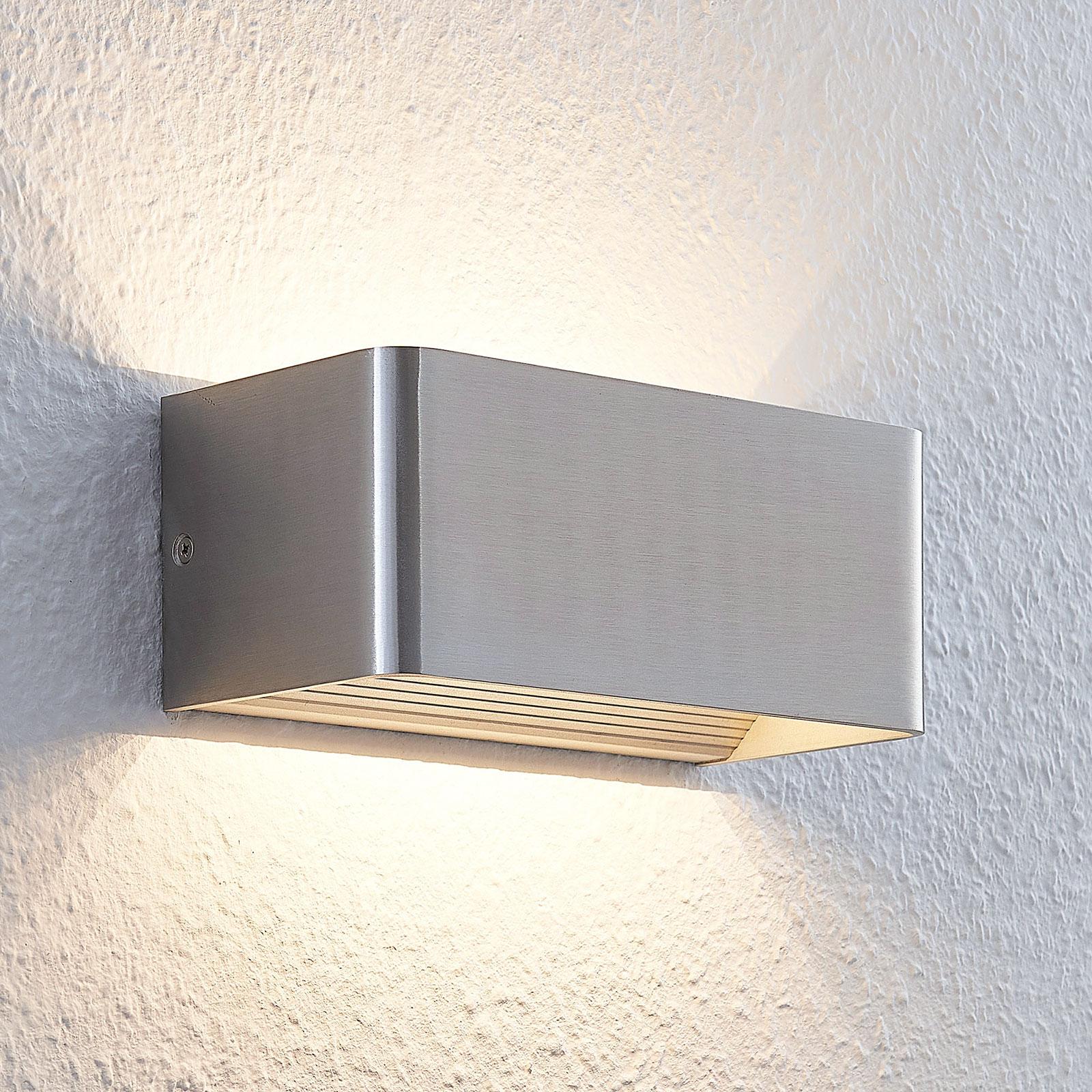 Tyylikäs LED-seinävalaisin Lonisa, satin. nikk.