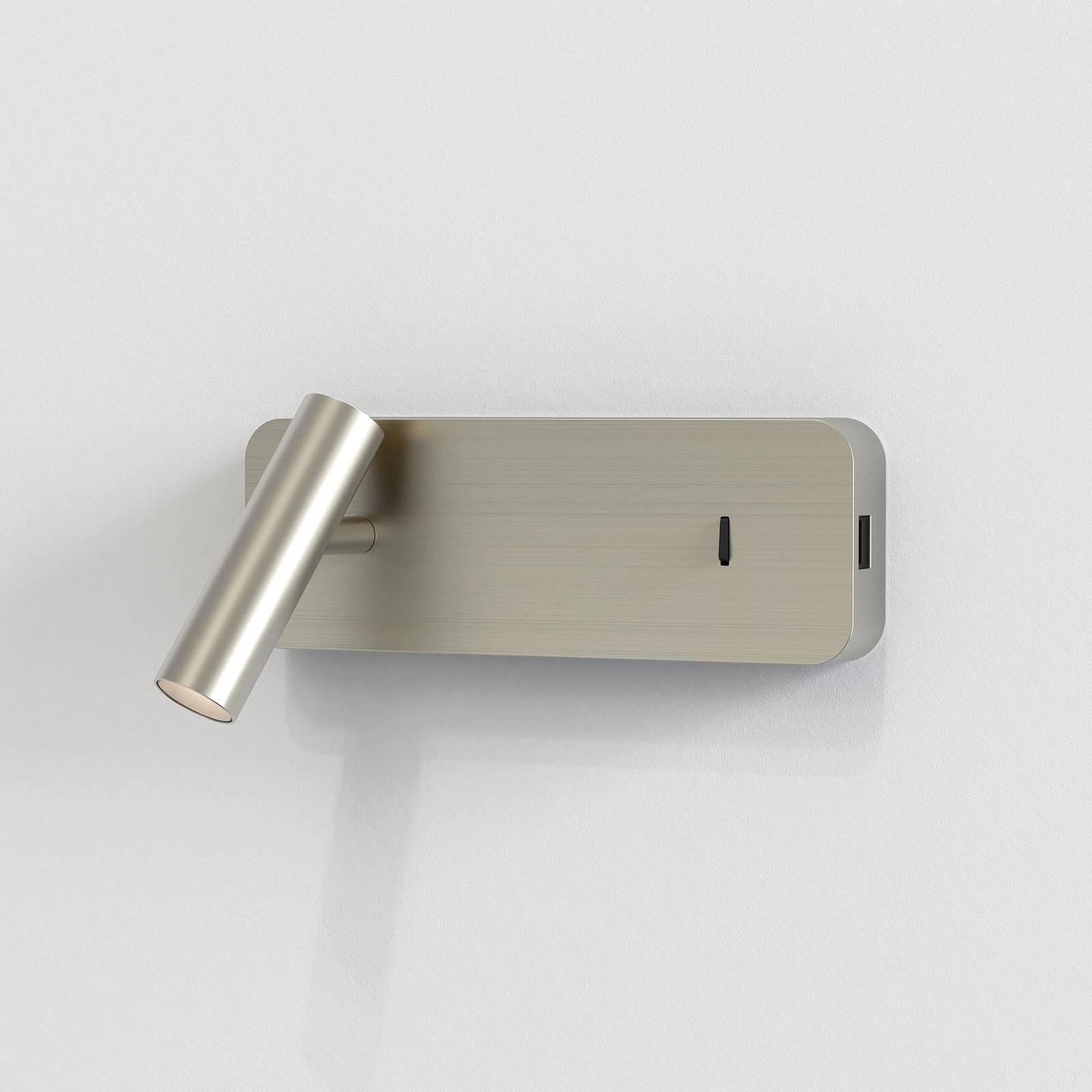 Astro Enna Surface USB -LED-seinävalaisin, nikkeli