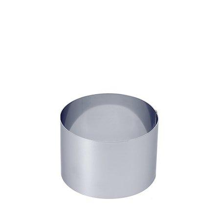 Kakering i stål Ø 12 cm H: 8 cm
