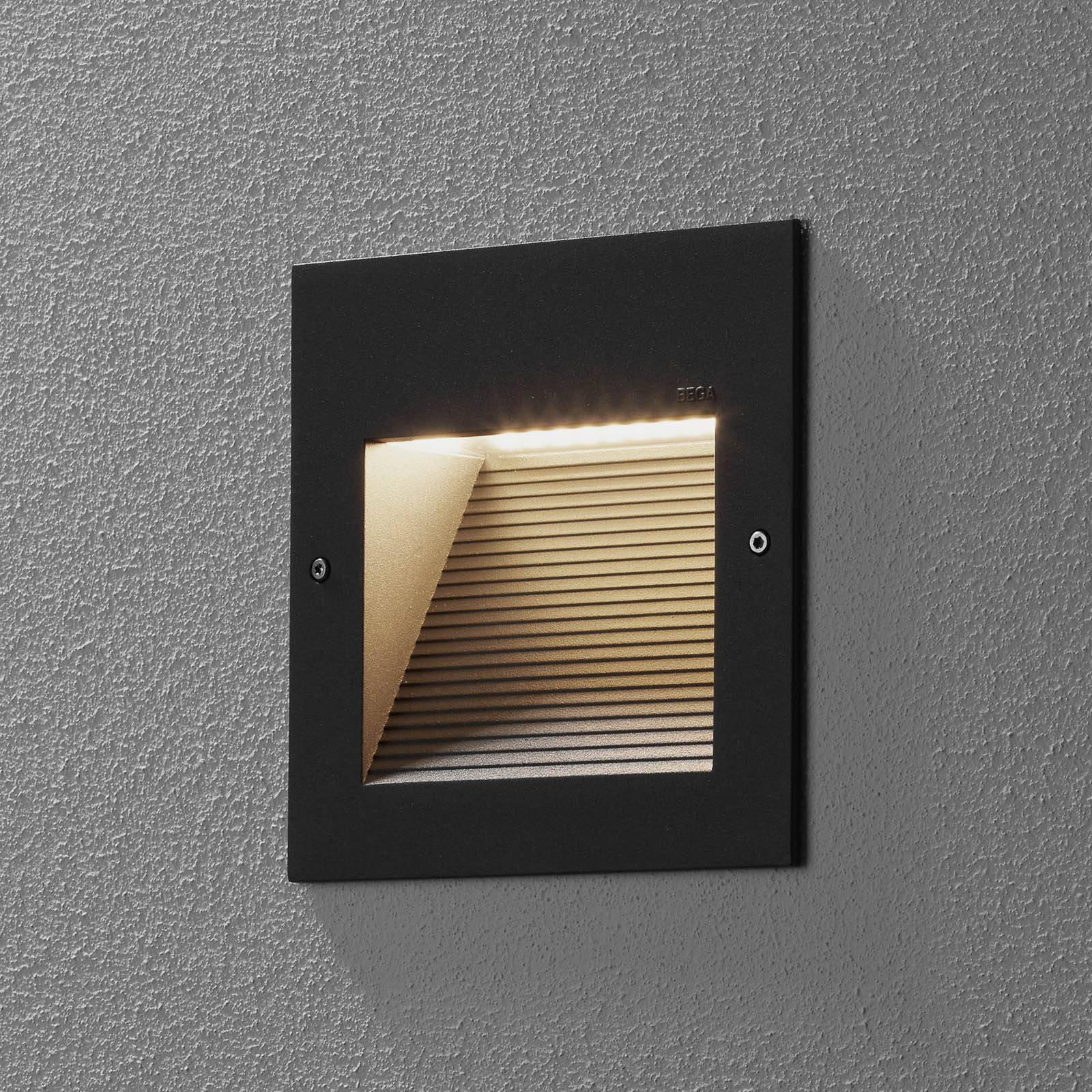BEGA 24202-LED innfelt vegglampe, 3 000 K, grafitt