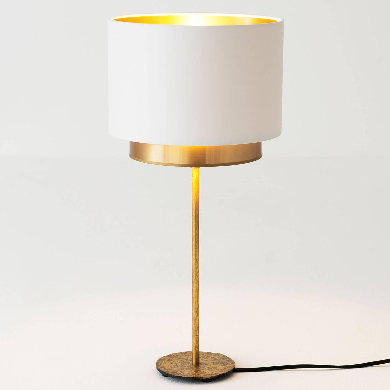 Pöytälamppu Mattia, Perla-silkki valkoinen/kulta