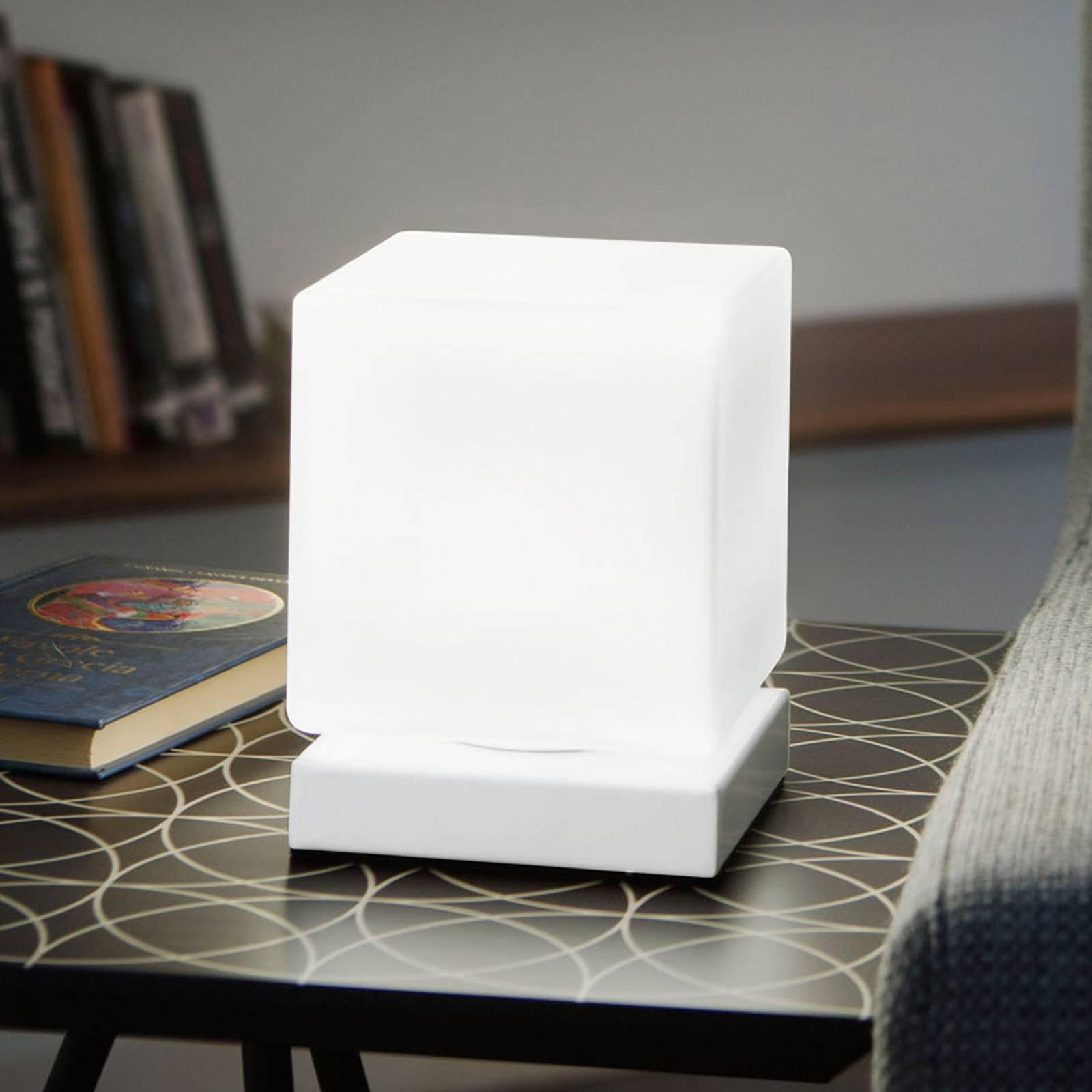 Kosketushimmennin LED-pöytälamppu Brenta valkoinen