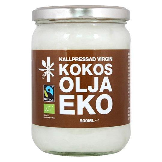 Superfruit Ekologisk Kokosolja Kallpressad, 500 ml