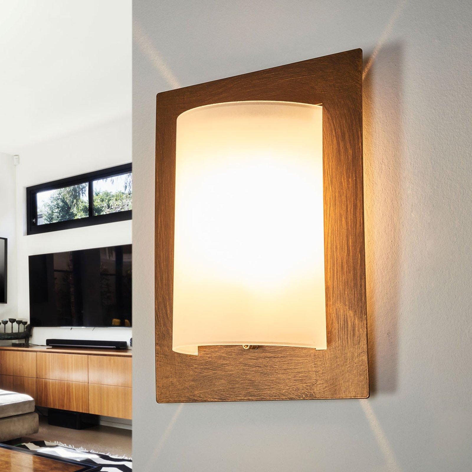 Vegglampe Metwally, rust, 28 x 23 cm