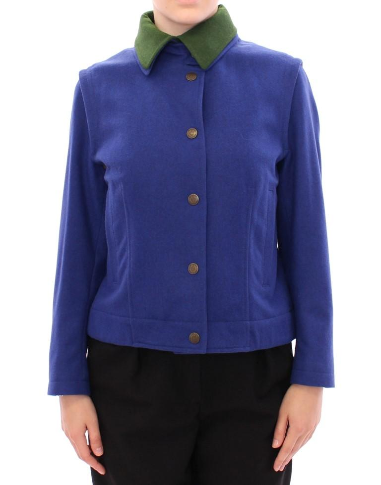 Andrea Incontri Women's Habsburg Wool Coat Blue GSS10176 - IT38 | S