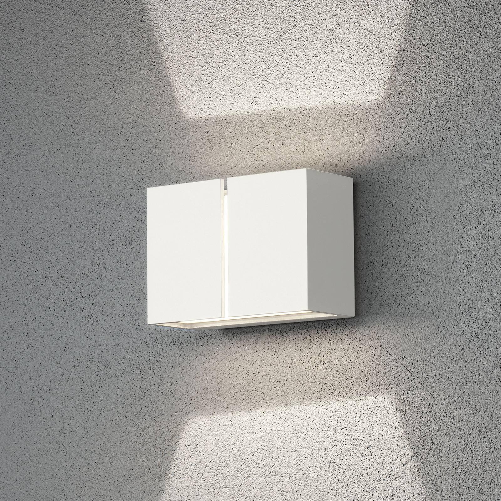 Pavia utendørs LED-vegglampe, hvit