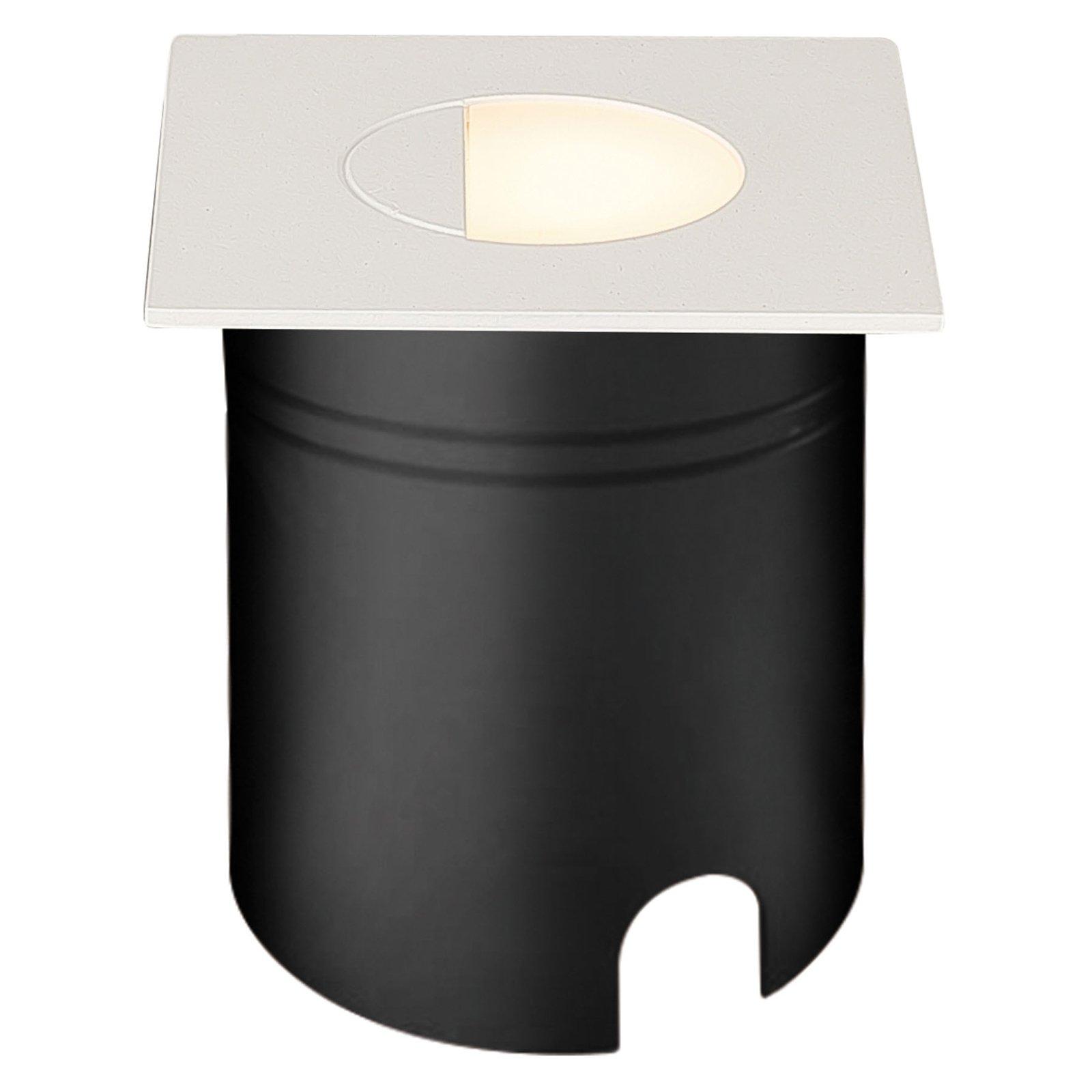 Aspen LED-innfellingslampe, spreder, kantet, hvit