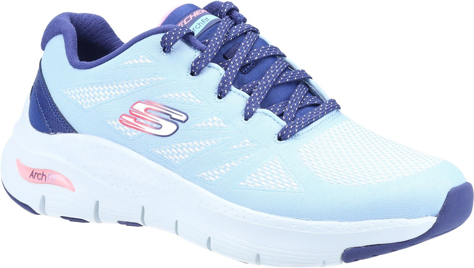Skechers Women's Arch Fit She's Effortless Trainer Various Colours 32107 - Light Blue/Navy 3