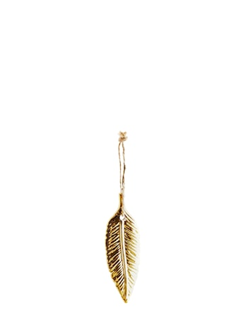 Fjäderdekoration 10,5x3,5cm Guld