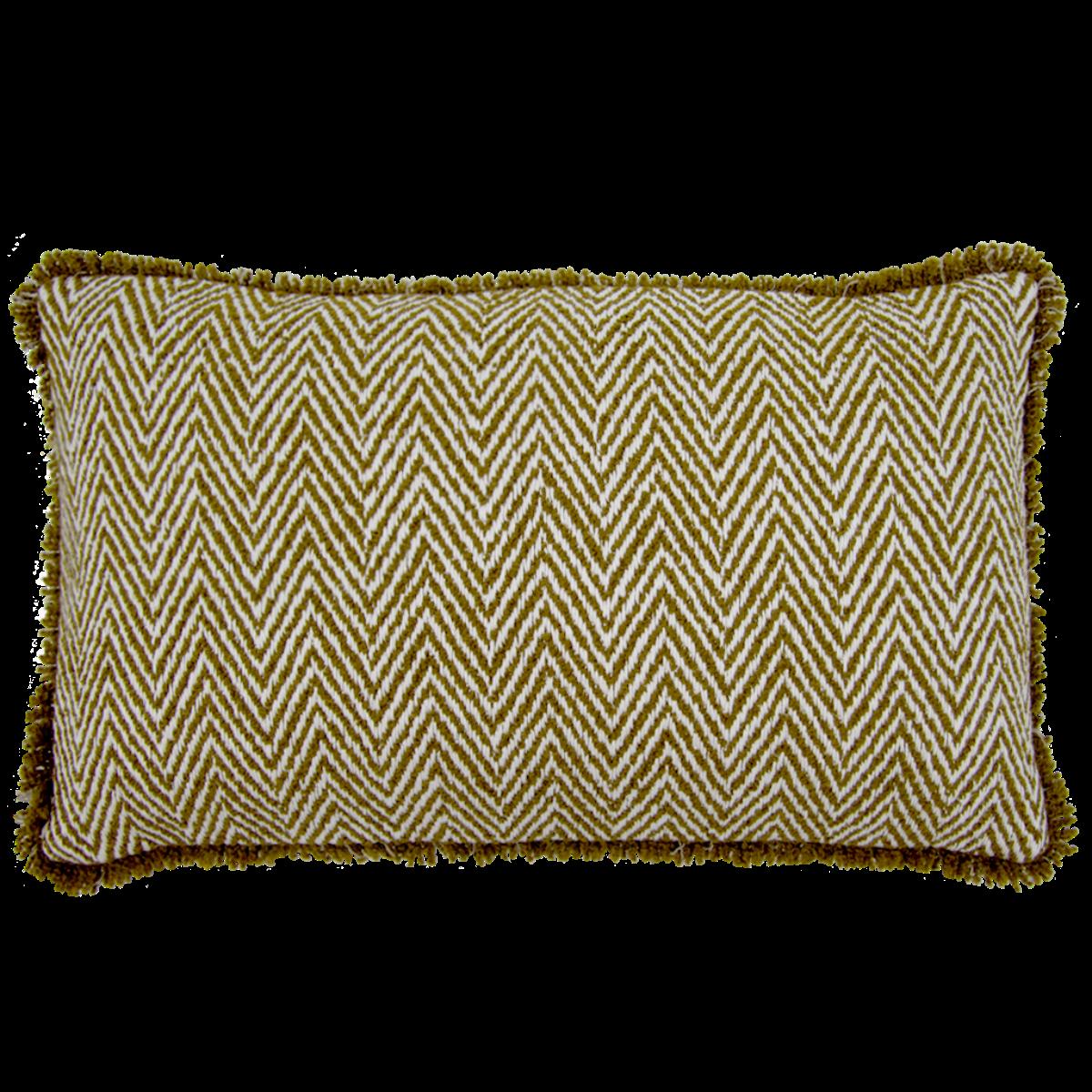 de Le Cuona | Spitfire Cushion With Fringe Amazon