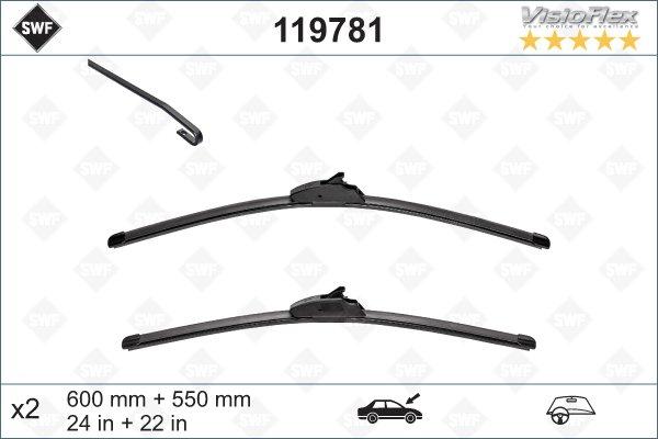 Flatbladesats 600/550