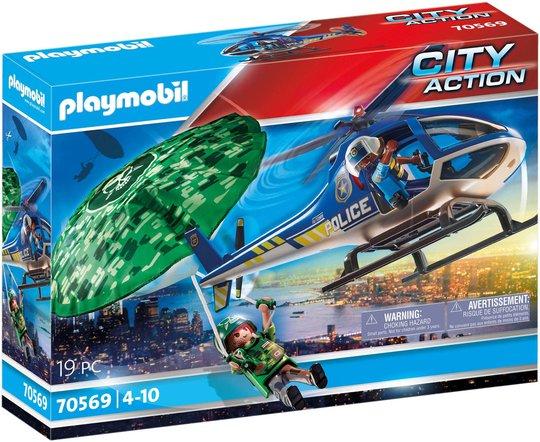 Playmobil 70569 Politihelikopter: Forfølgelsesjakt Med Fallskjerm