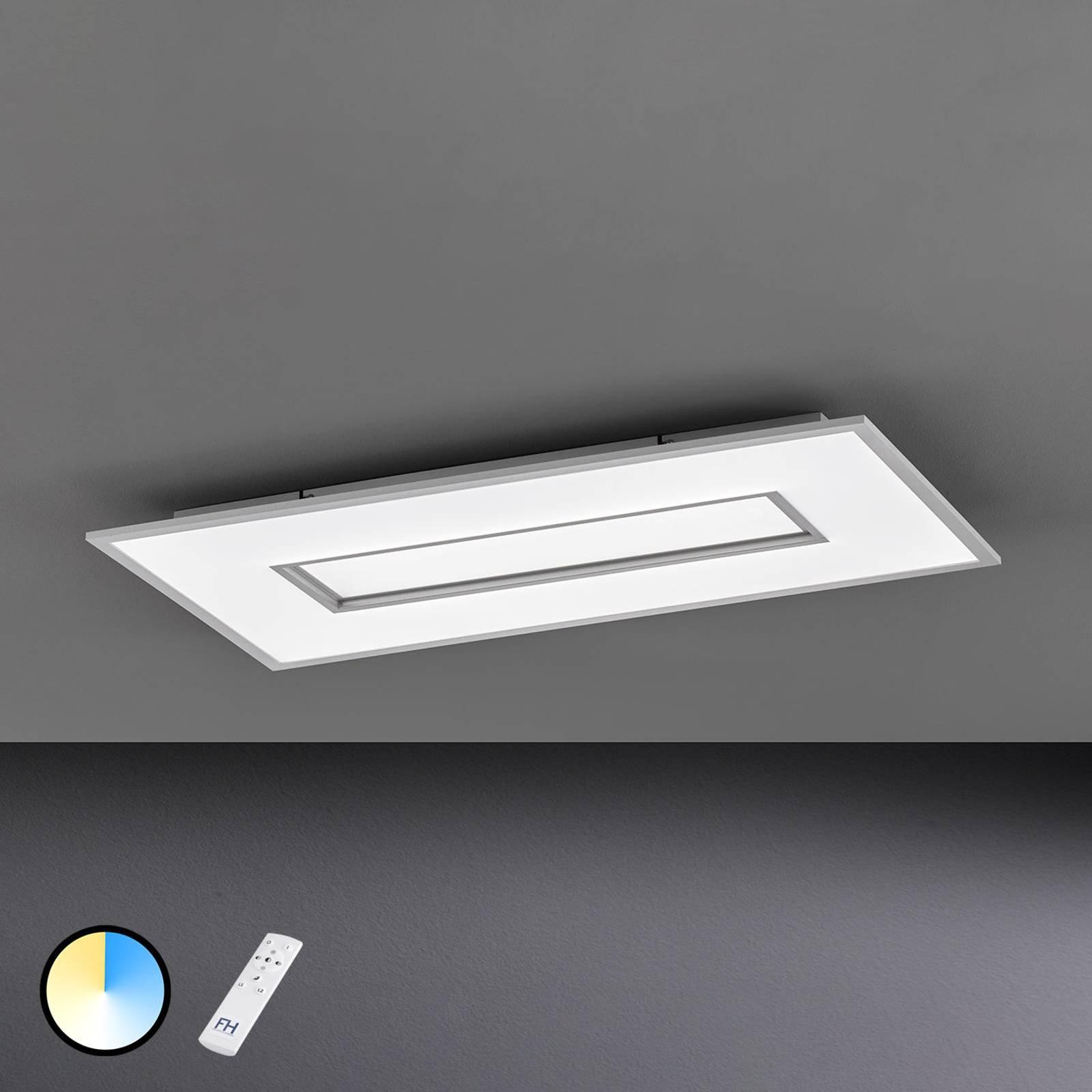 LED-taklampe Tiara, rektangel, 80x40 cm