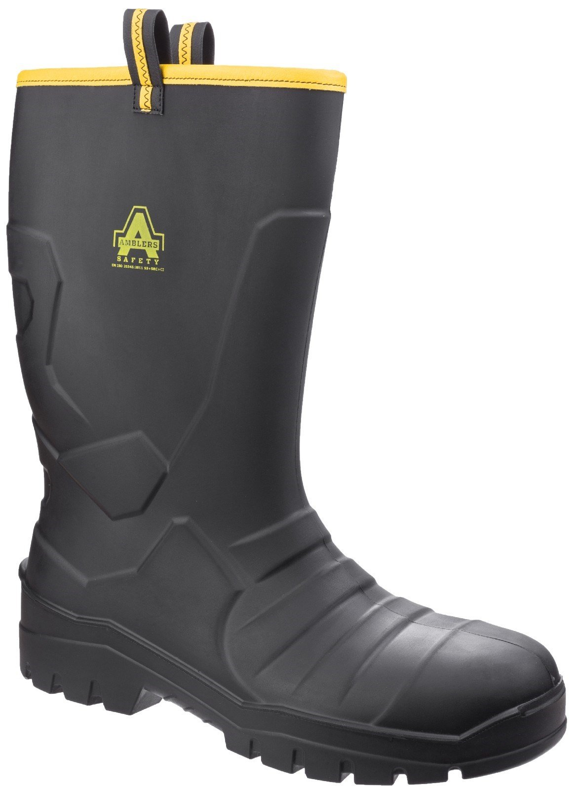 Amblers Unisex Safety Full Rigger Boot Black 27041 - Black 3