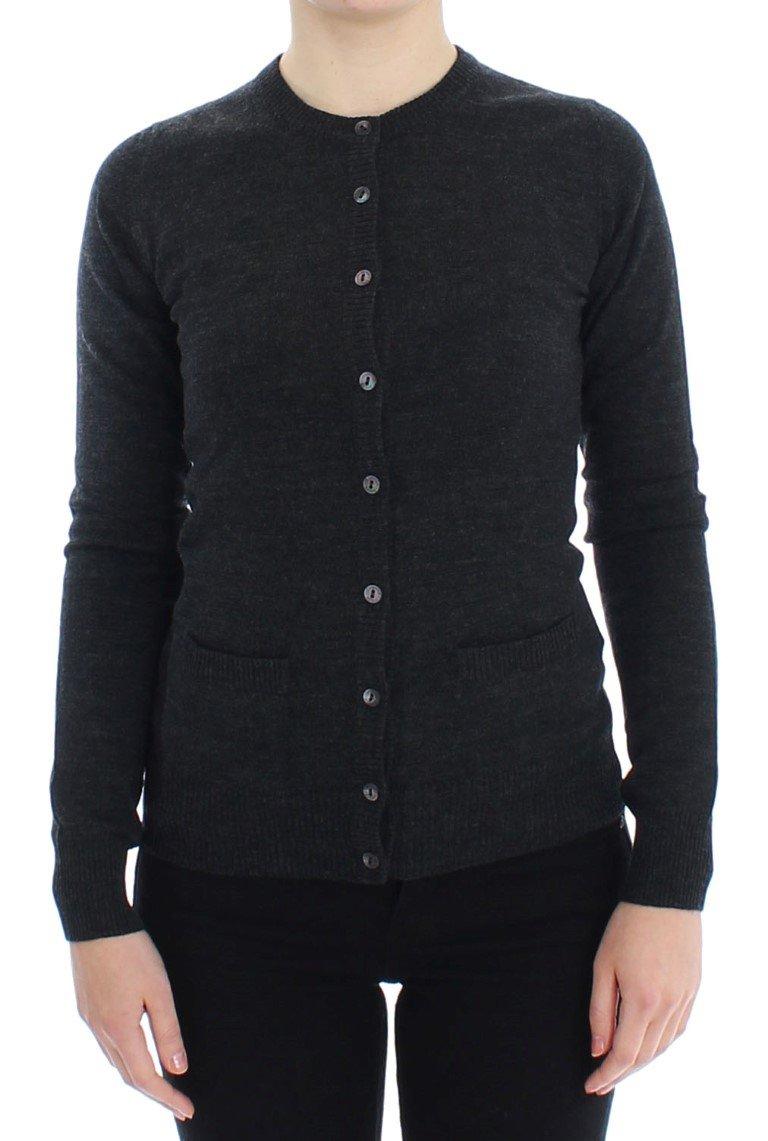 Dolce & Gabbana Women's Wool Button Cardigan Gray SIG13356 - IT38   S