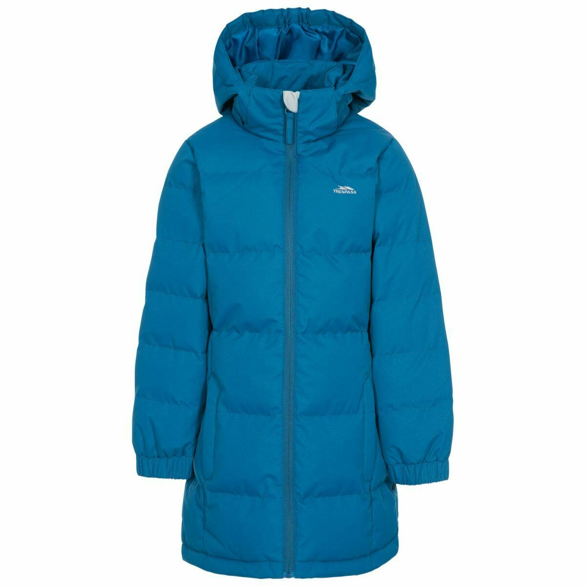 Trespass Kid's Puffa Jacket Various Colours Tiffy - Cosmic Blue 11 to 12 Years