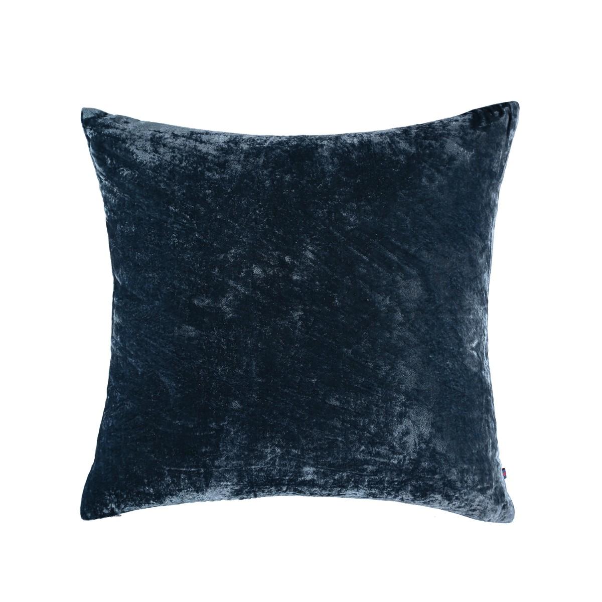 William Yeoward  Paddy Velvet Cushion Denim Noir