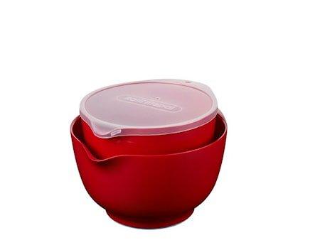 Skålsett Margrethe med Lokk 4 deler Rød