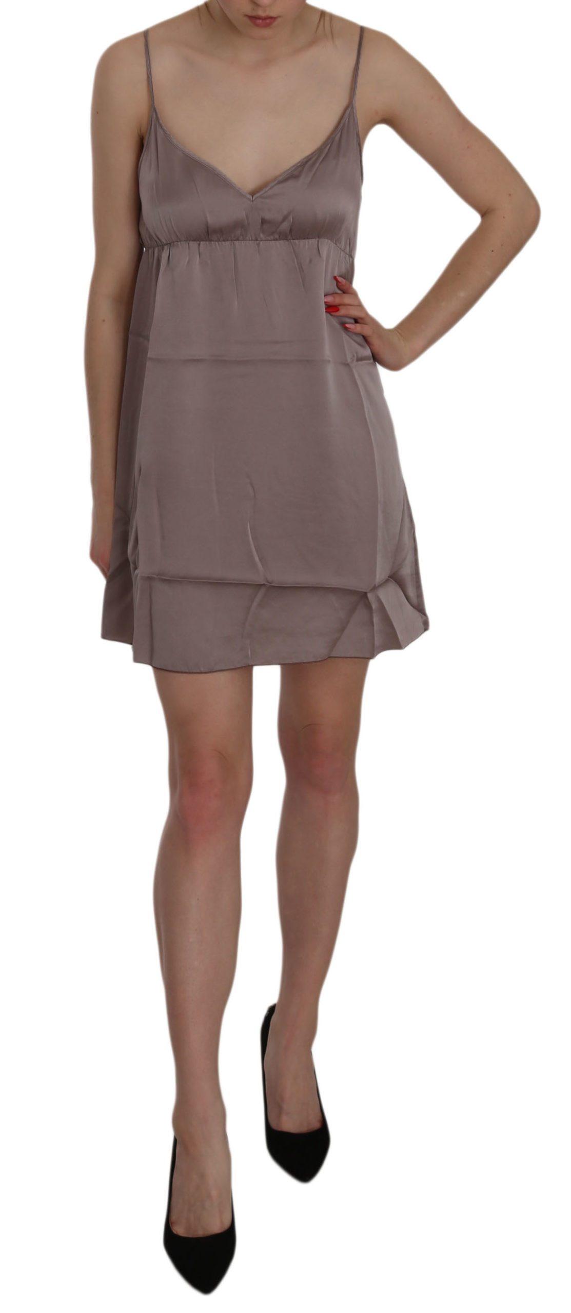 PINK MEMORIES Women's Spaghetti A-line Silk Dress Purple TSH3478 - IT40|S