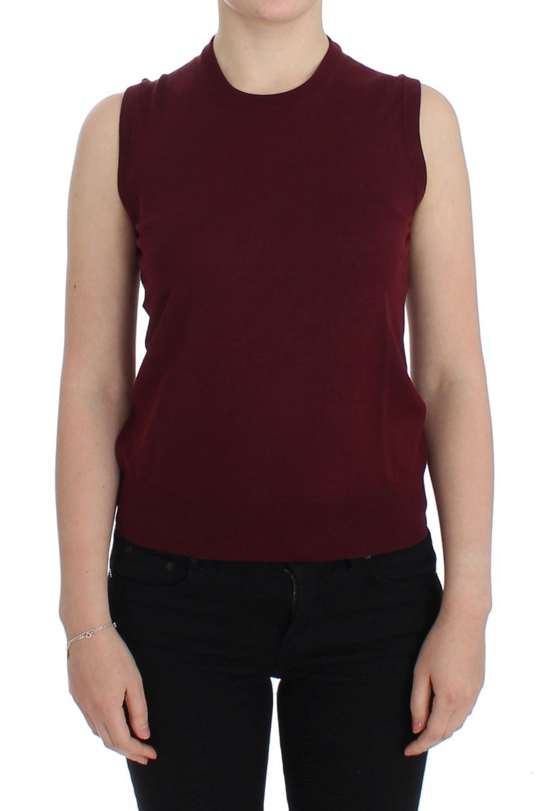 Dolce & Gabbana Women's Sleeveless Crewneck Top Red SIG13334 - IT42|M