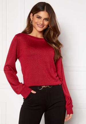 Happy Holly Angelica lurex sweater Dark red 48/50