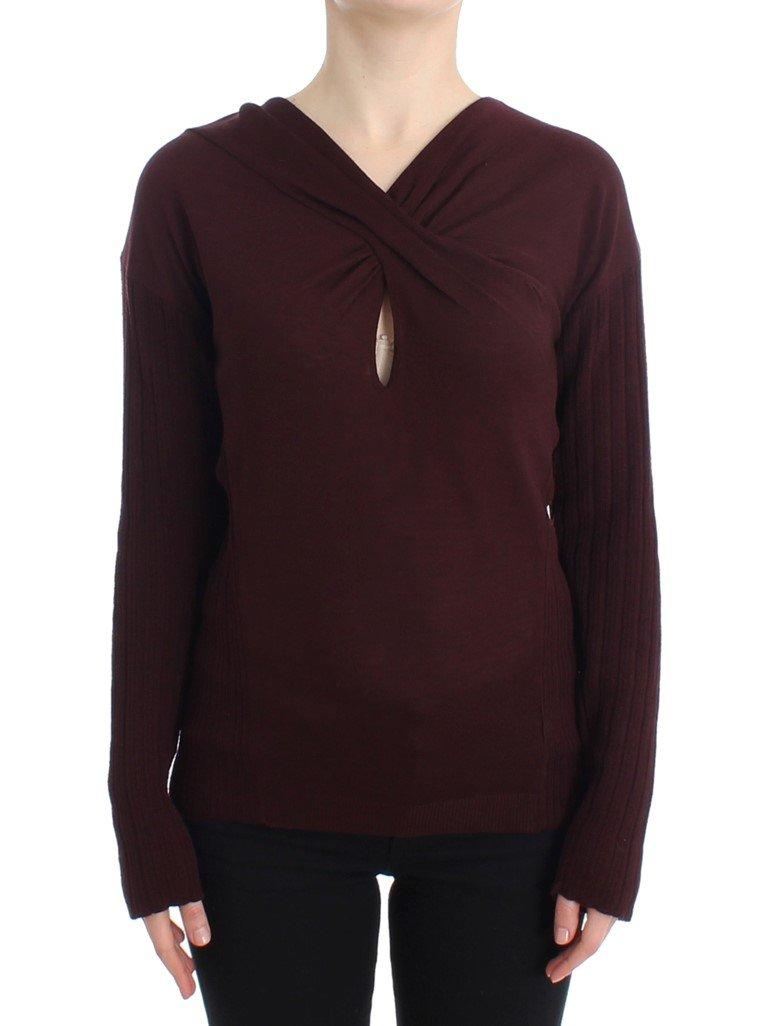 Cavalli Women's Sweater Purple SIG11618 - IT46|XL