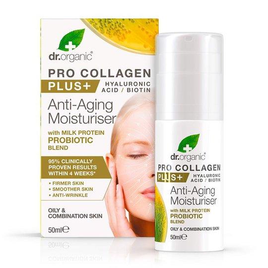 Dr. Organic Pro Collagen Plus Probiotic Anti-Aging Moisturiser, 50 ml
