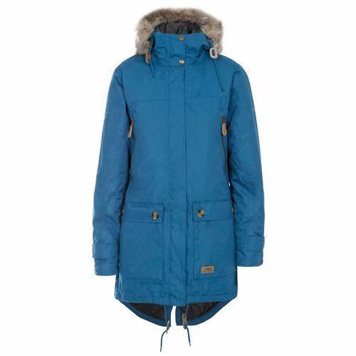 Trespass Clea Waterproof Parka Jacket - Indigo S