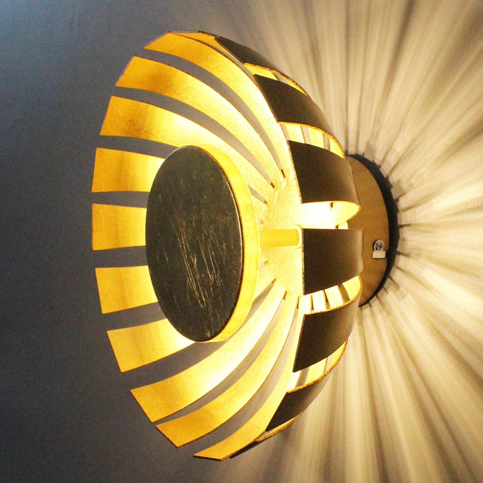 LED-vegglampe Flare Medium, gull
