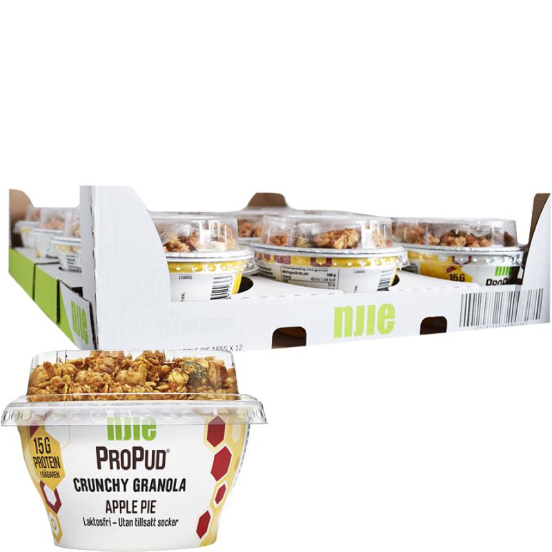 "Hel Låda Proteinpudding ""Apple Pie"" 12 x 165g - 41% rabatt"