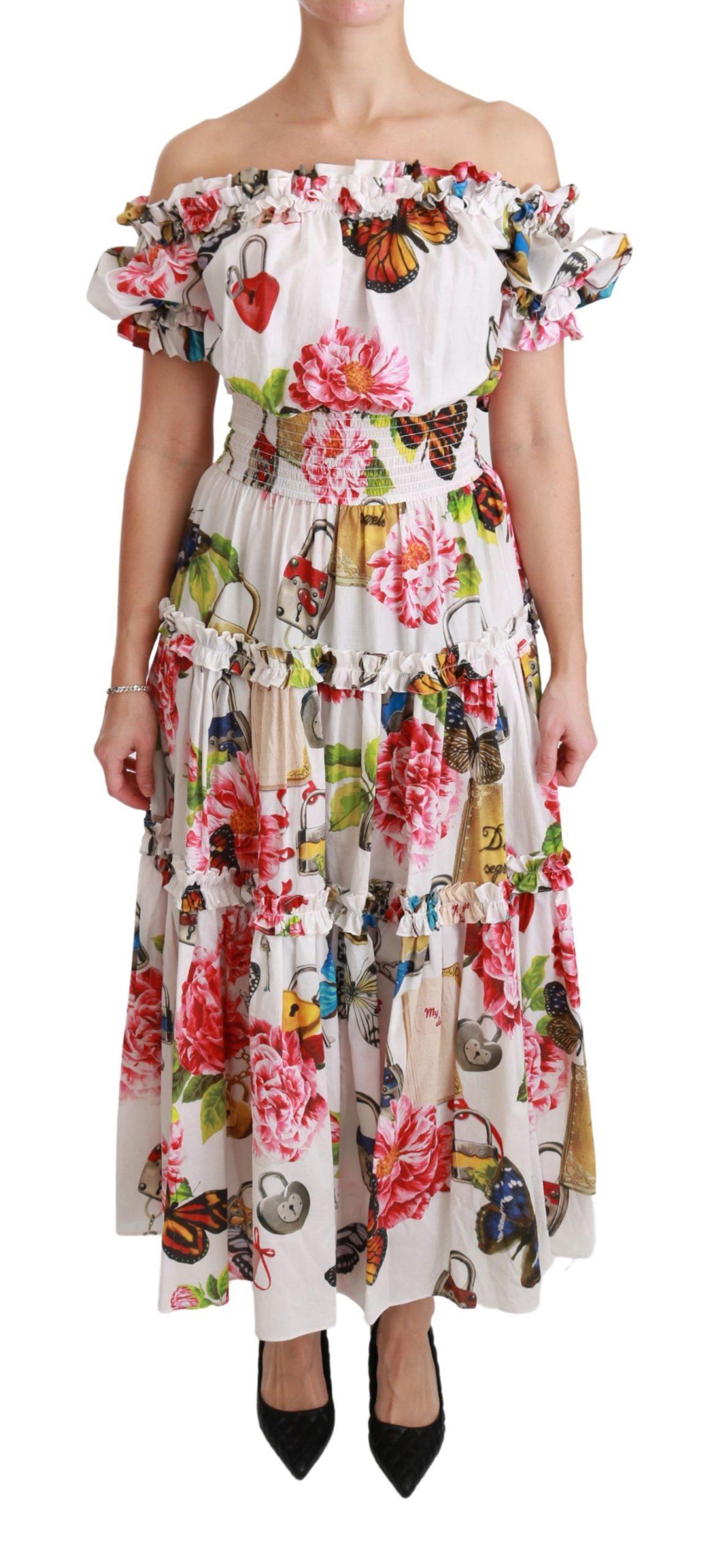 Dolce & Gabbana Women's Cotton Fairy Tale Dress White DR2455 - IT38|XS