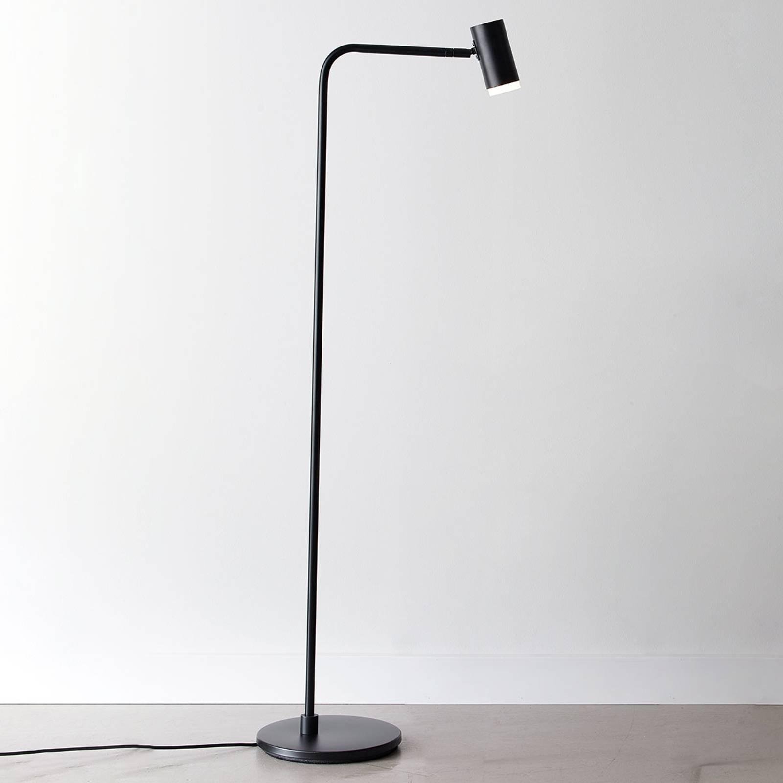 LED-gulvlampe Cato Q med dimmer, svart