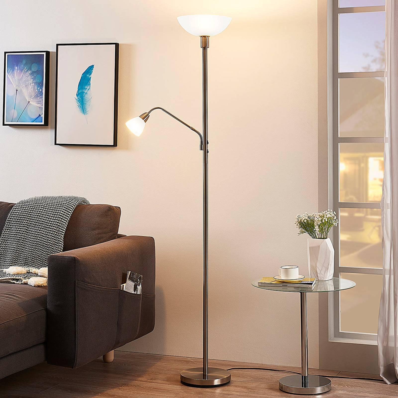 Nikkelinvärinen LED-kattokohdevalo Jost, lukuvalo