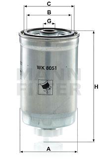Polttoainesuodatin MANN-FILTER WK 8051