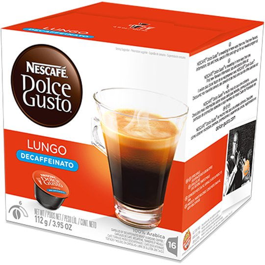 "Kaffekapslar ""Lungo Decaffeinato"" 16-pack - 44% rabatt"