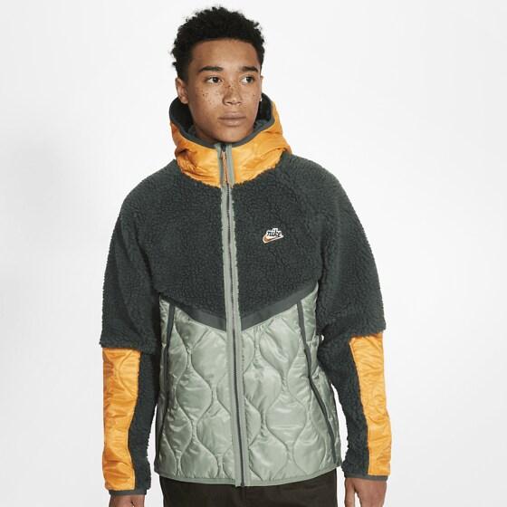Nike M Nsw He Jkt Hd Insltd Winter Jackor VINTAGE GREEN/SPIR