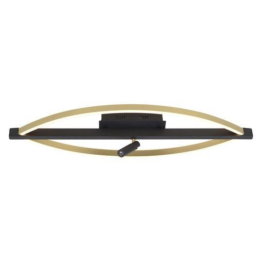 Lucande Matwei -LED-kattovalo, ovaali, messinki