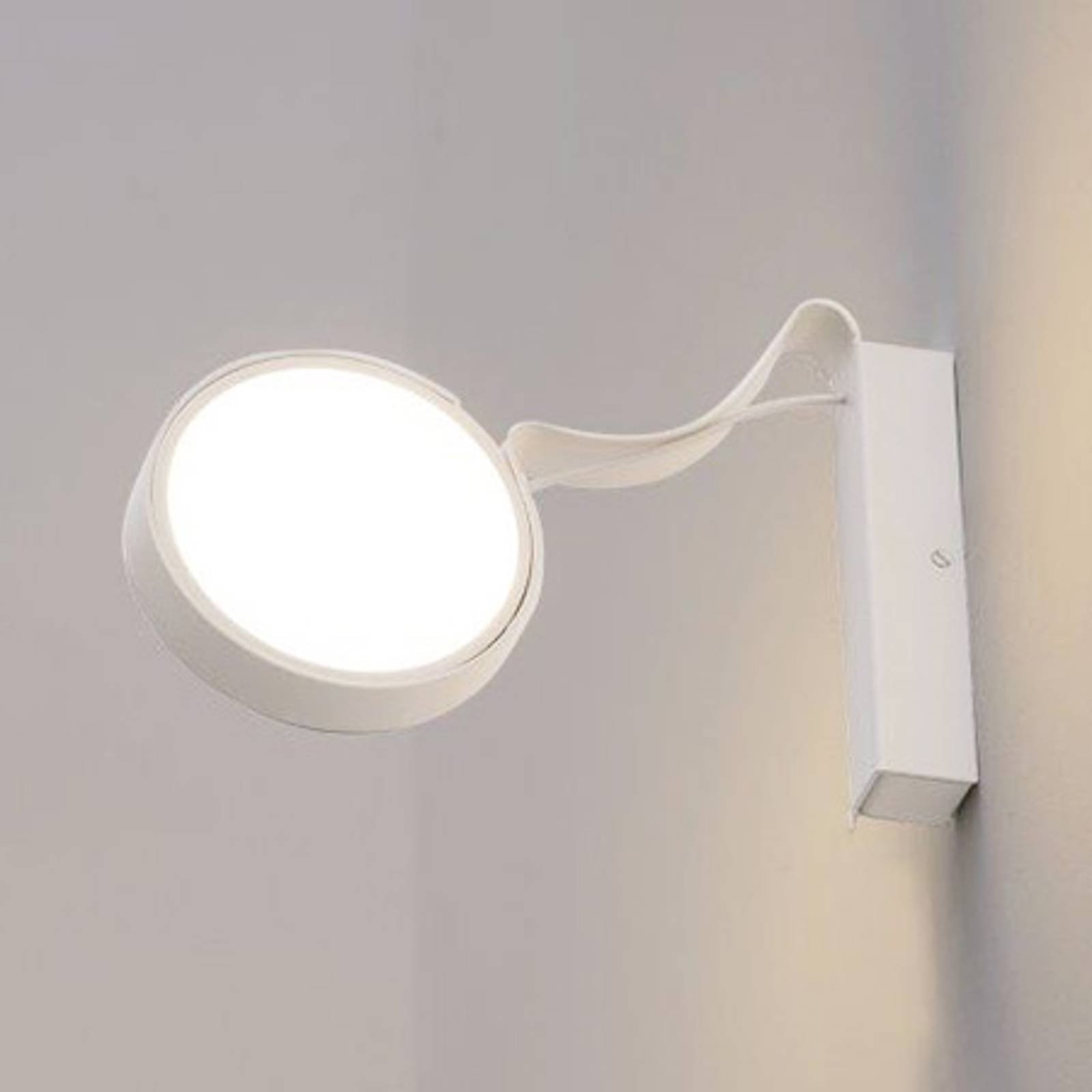 Vegglampe DND Profile med LED-lys, hvit