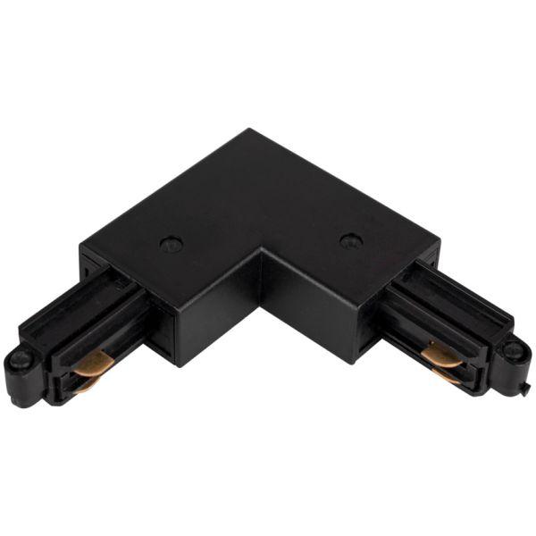 Hide-a-Lite LiteTrac L-tilkobling 1-faset, svart Indre