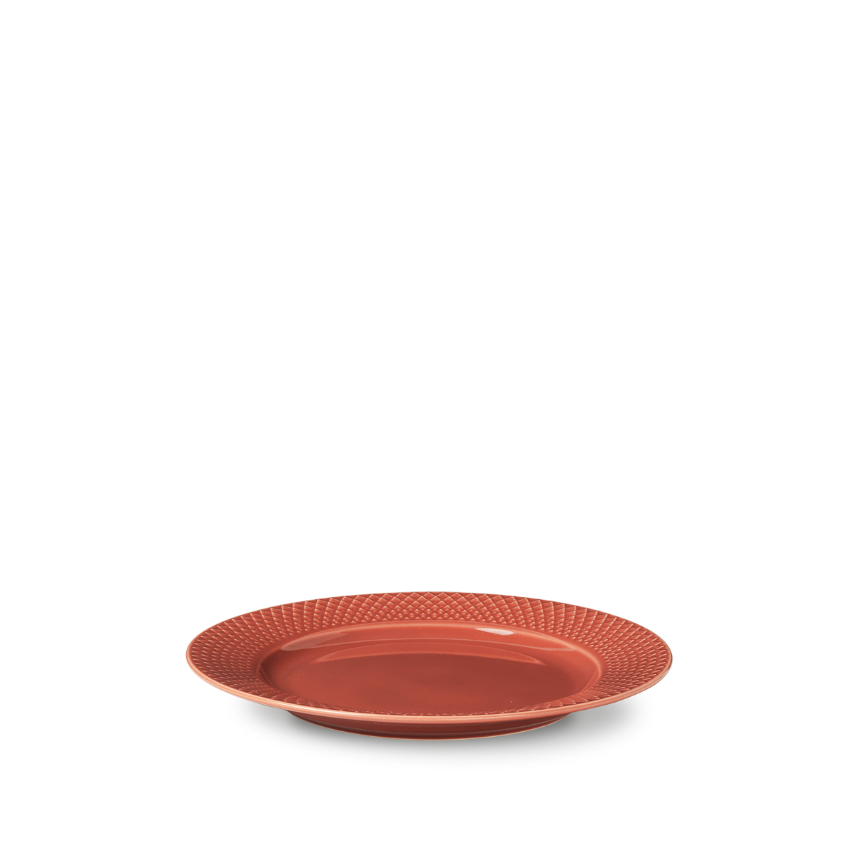 Lyngby Porcelæn - Rhombe Color Lunch Plate Dia. 23cm - Terracotta (201935)