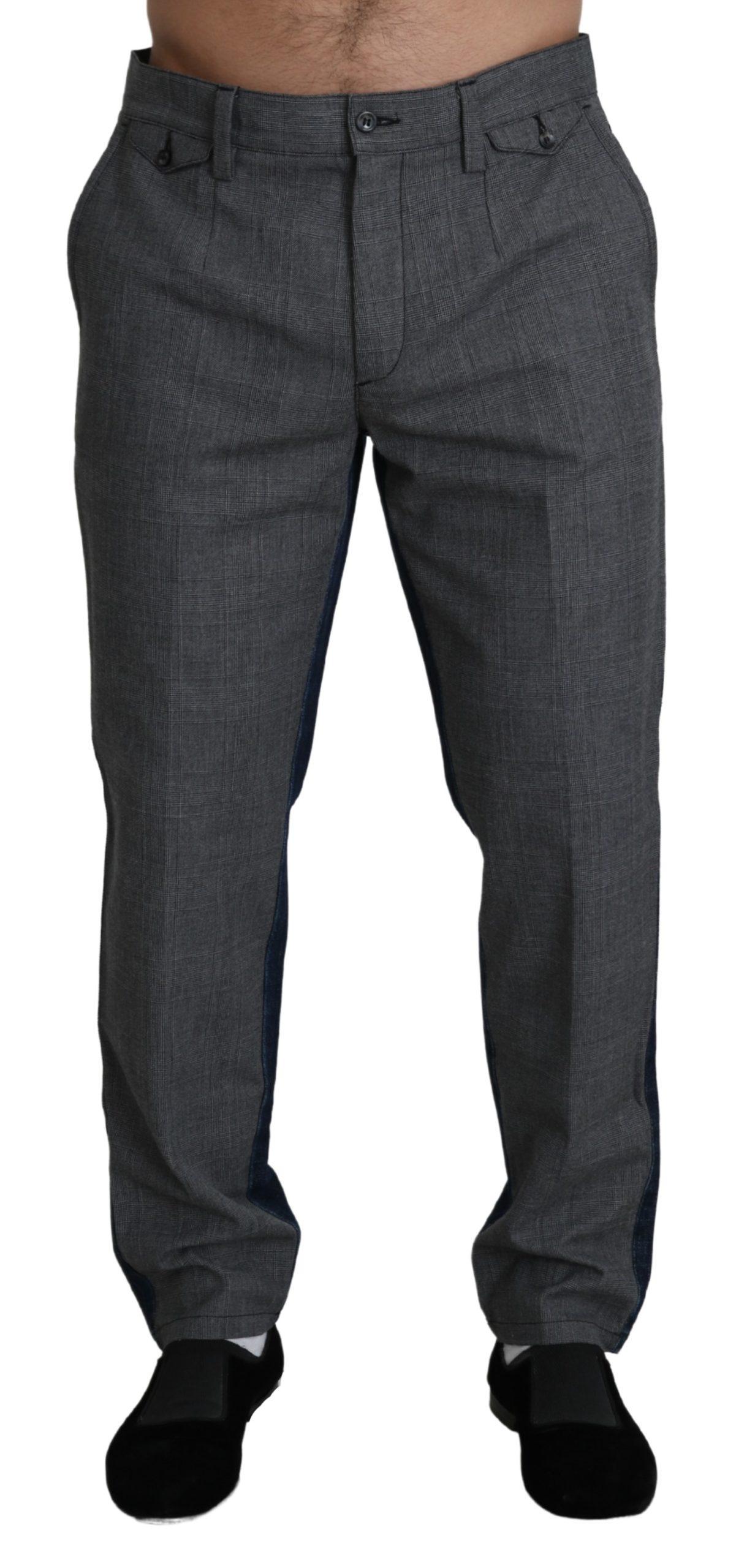Dolce & Gabbana Men's Cotton Trouser Gray PAN71387 - IT50 | L
