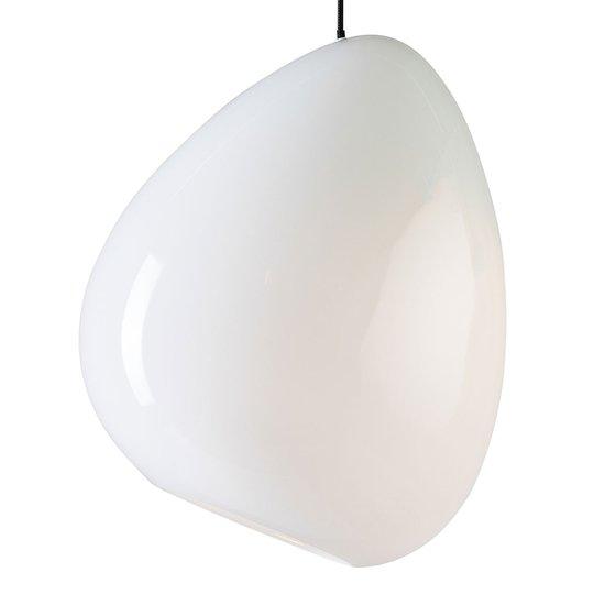 Ocean-riippuvalaisin, lasia, kiiltävä valkoinen