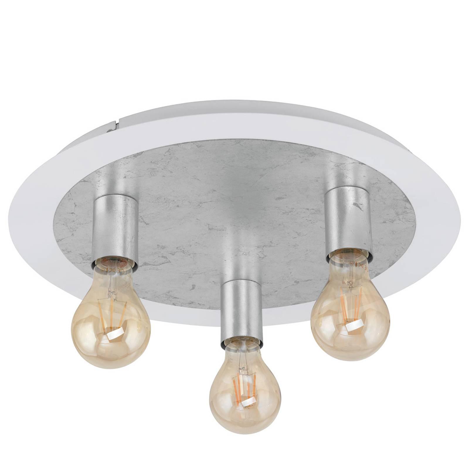Kolmilamppuinen Passano 3-lamppuinen, hopea